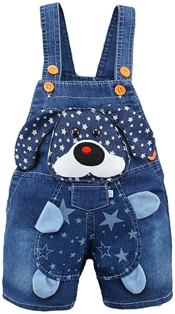 Kidscool Baby Girls Cotton 3D Cute Rabbit Denim Overalls