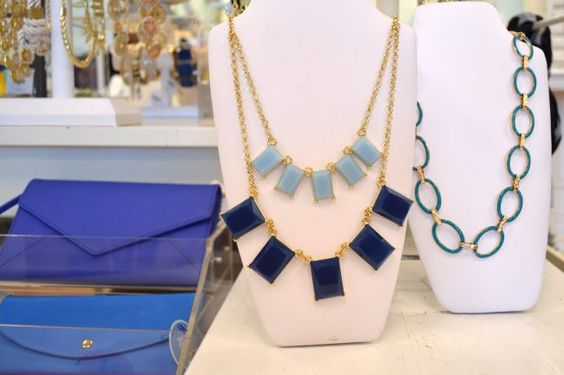 Statement necklaces and clutches. www.missibiss.com    1100 Lincoln Ave San Jose CA