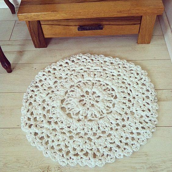 Doily Rag Rug Crochet free pattern Heegeldatud vaibad ...