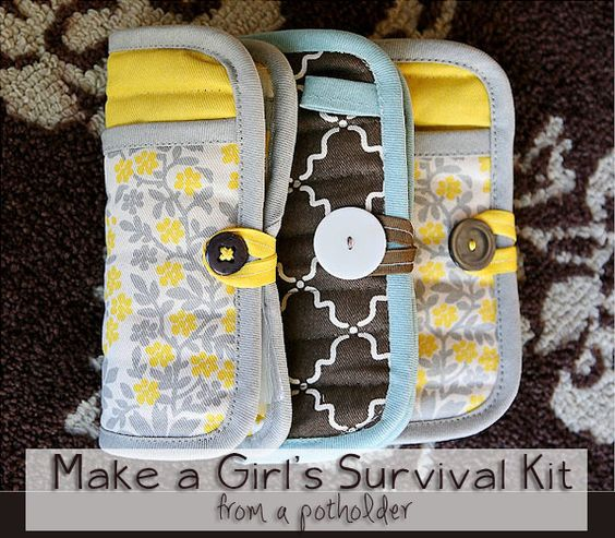 Girls survival kit. Everyone needs one of these in their purse. Can't wait to make these!