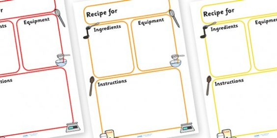 writing a recipe template