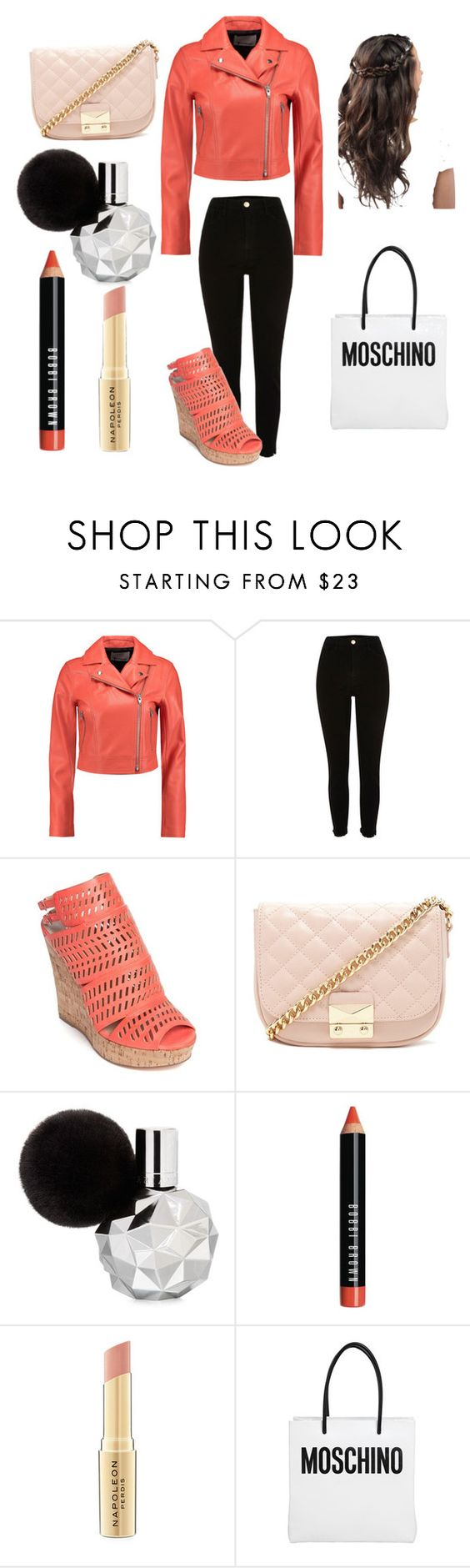 """""""Shopping"""" by amazingness1111 ❤ liked on Polyvore featuring T By Alexander Wang, Charles by Charles David, Forever 21, Bobbi Brown Cosmetics, Napoleon Perdis and Moschino"""
