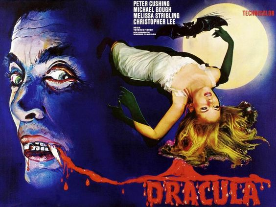 Vintage Cinema Dracula movie 4 Sizes Silk Fabric Canvas Poster Print