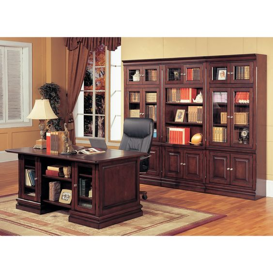 Parker House Executive Desk And Optional Wall Bookcase 1559 25 On Bookcases Galore
