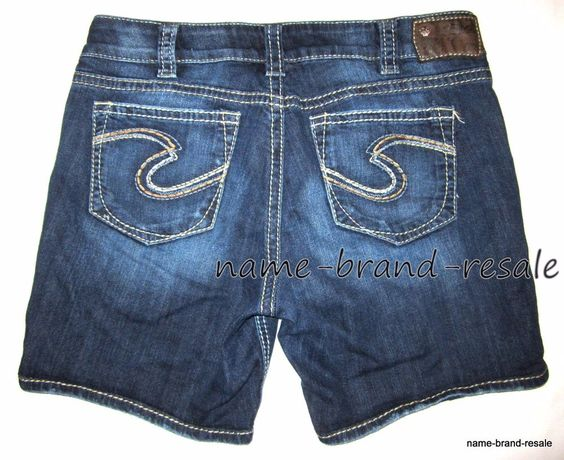 Details about SILVER JEANS Suki Short WOMENS 30 Faded Denim Low ...