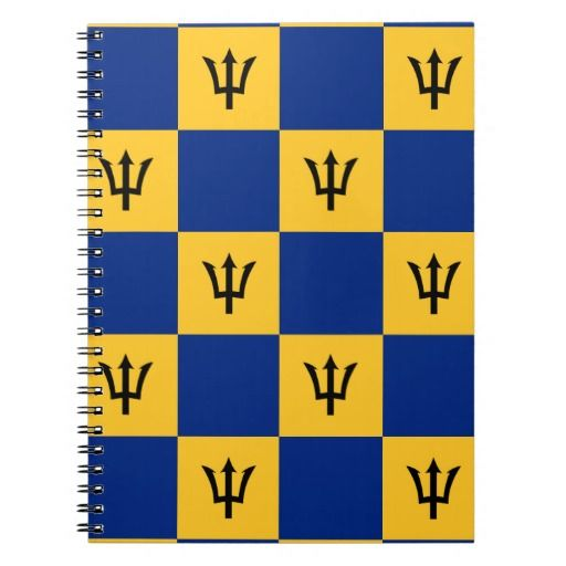 Barbados flag pattern  notebook