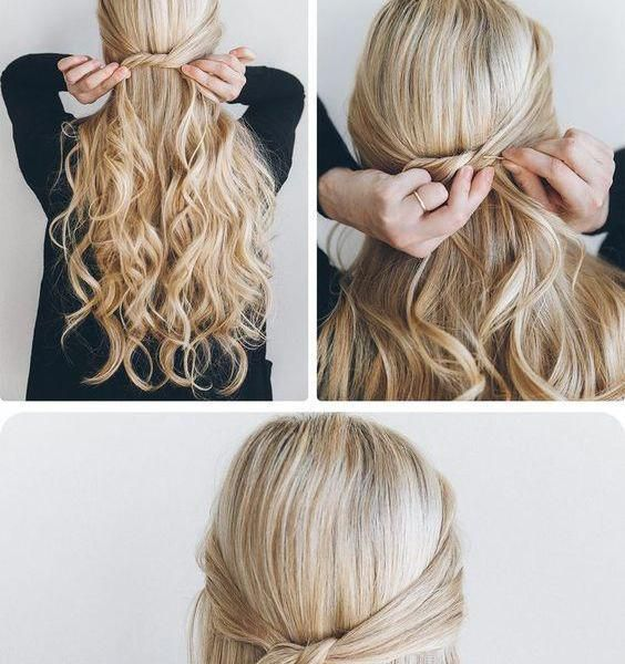 45 Easy Half Up Half Down Hairstyles 2017 Step By Step Page 32 Of 47 Cute Of Haircuts Easyhairstyles We Down Hairstyles Medium Hair Styles Hair Styles