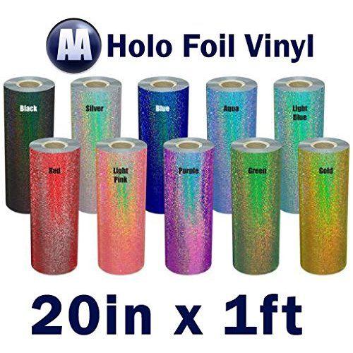 Dtgmart Heat Transfer Holographic Foil Vinyl For Textile 19 X Foot Heat Transfer Vinyl Heat Transfer Holographic Foil