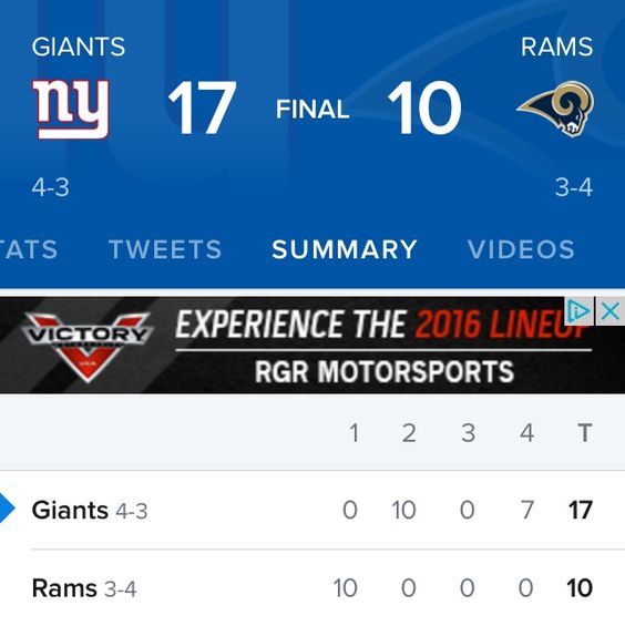 Yeah! Congrats for our team NY Giants 🏈🍺 Have a nice Sunday 💙