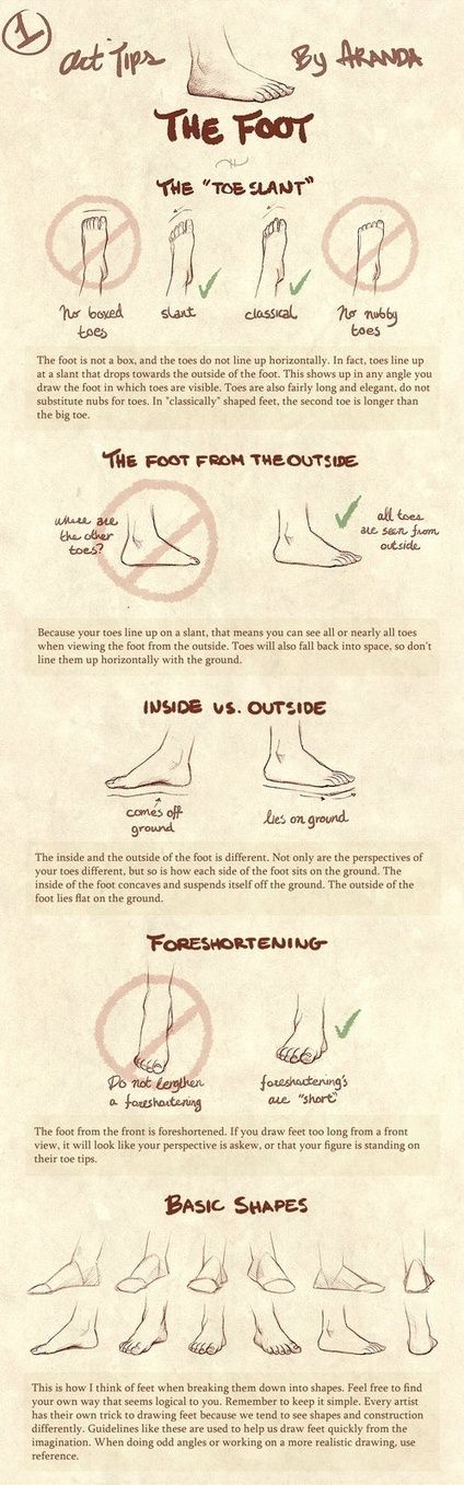 Foot Drawing Tutorial | Drawing References and Resources | Scoop.it:
