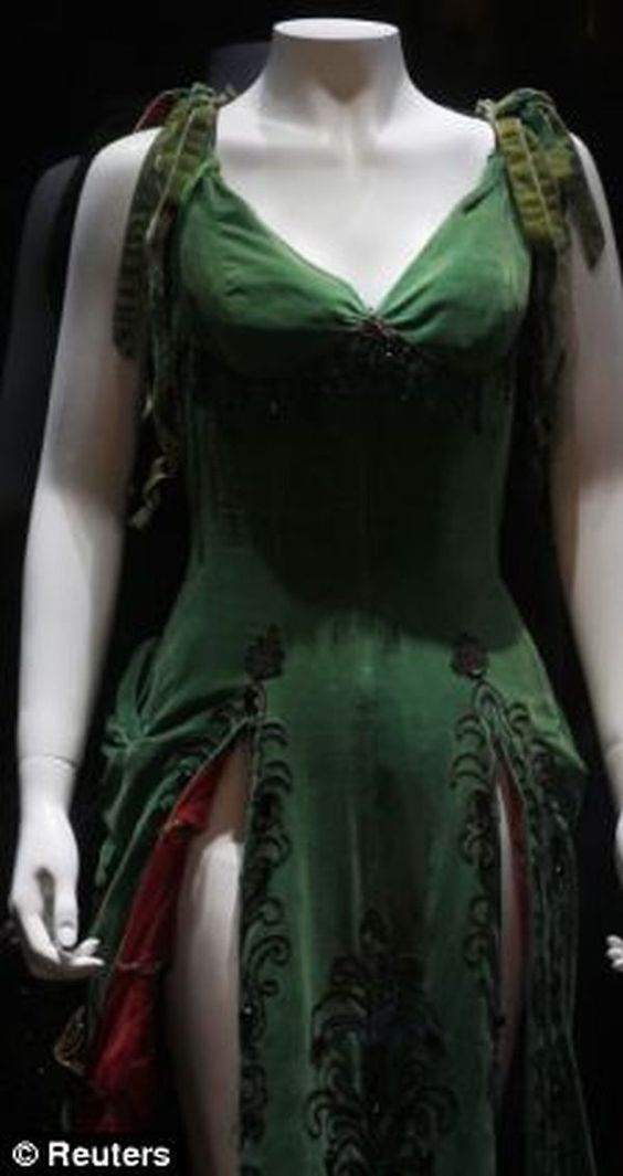 Marilyn Monroe's green prom dress sold for 504,000 dollars.