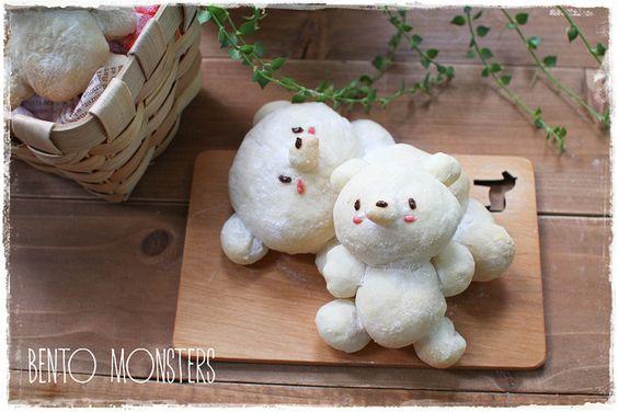 Japanese Milk Bun Bear    Bento Monsters