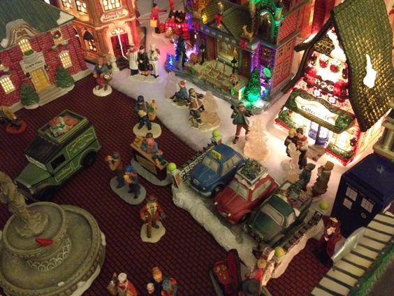 From above - if they made Christmas Village drones - I'm pretty sure it would look like this