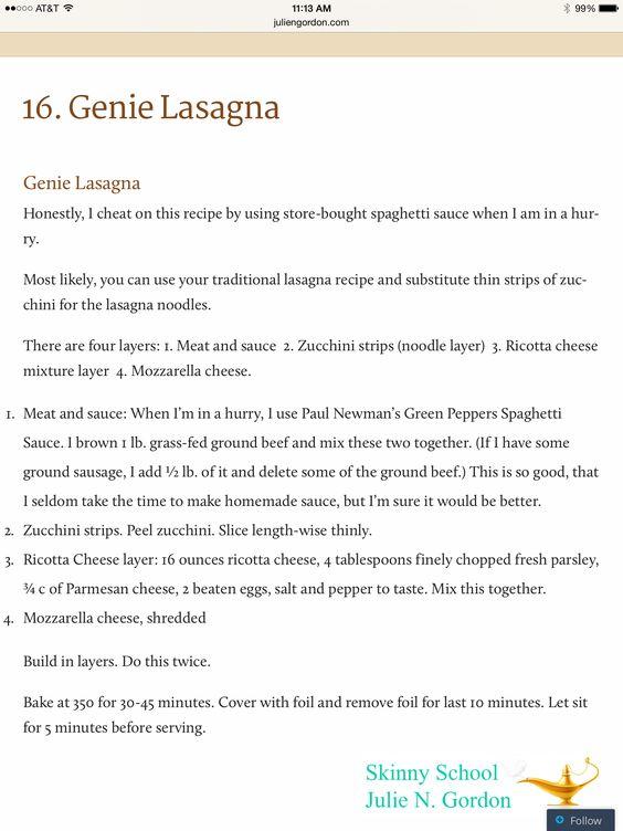 Genie Lasagna