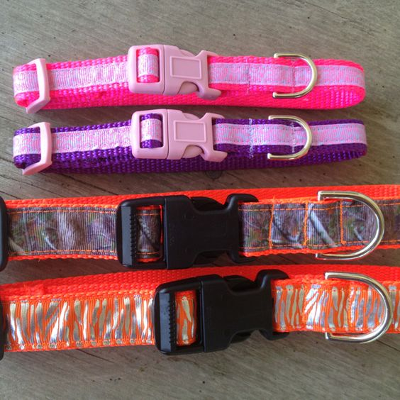 Ribbon trimmed dog collars  www.whinneywear.com www.facebook.com/whinneywear