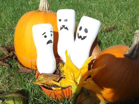 szellemes dekoráció Halloweenre
