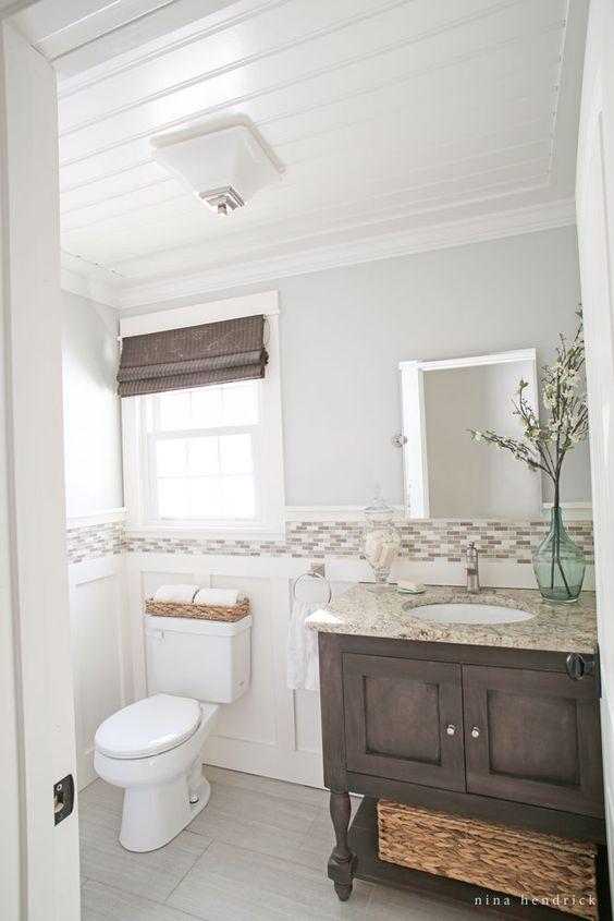 Modern Farmhouse Powder And Condo Bathroom On Pinterest