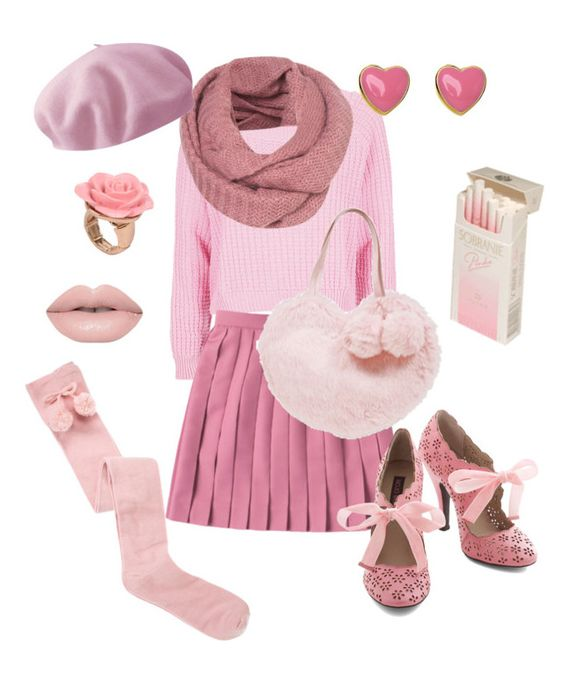 """""""Pink winter"""" by spacedonut ❤ liked on Polyvore featuring Topshop, maurices, Betmar, Lori's Shoes, women's clothing, women's fashion, women, female, woman and misses"""
