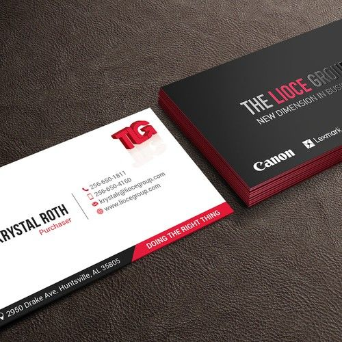 Tlg Business Card We Are An Office Equipment Dealer Since 1967 We Offer Hardware Software And Solutions From Canon Toshiba Card Design Cards Business Cards
