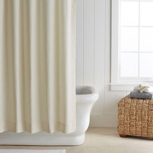 Signature Linen Shower Curtain In 2020 Rustic Bathrooms