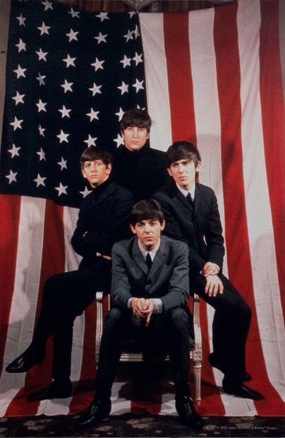 The Beatles - American Flag 1964 Tour Ad | Stars and ...