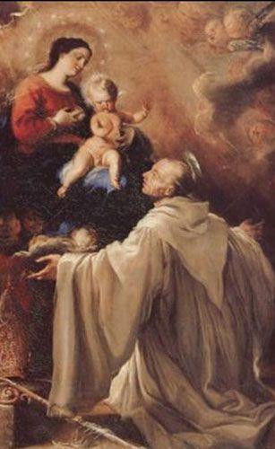 Saint Bernard devant la Vierge à lâenfant, Juan Carreño de Miranda, 1668 - Ta Miséricorde a, pour des malheureux, une saveur plus douce⦠Bernard de Clairvaux, Docteur de l'Eglise