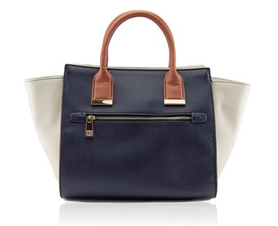 Image of Natalie Navy Color Block Tote
