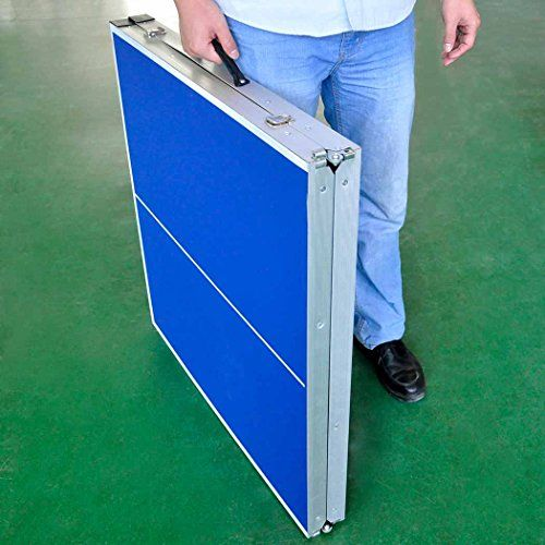 """HLC 60"""" Midsize Table Tennis Table with Bat and Balls"""