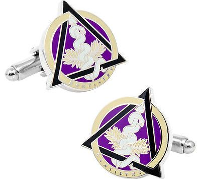 Cufflinks Inc Men's Dental Caduceus Cufflinks Silver