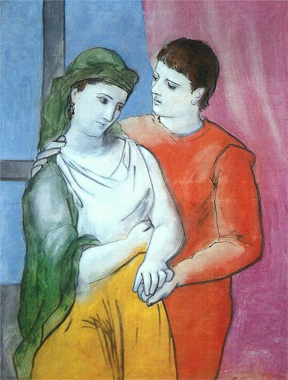 Lovers, by Pablo Picasso - The unpardonable, according to Hölderlin: to upset the peace that lovers have