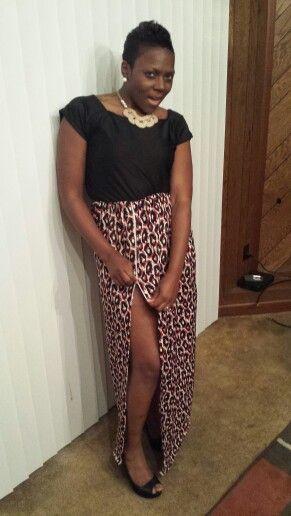 Zip split dress