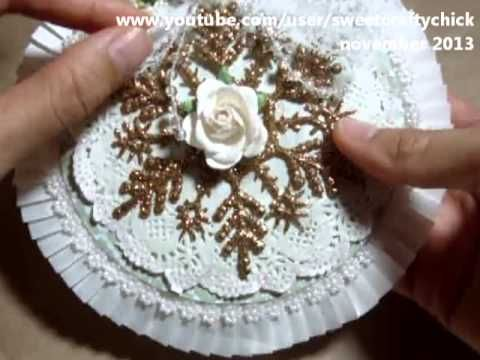 Vintage and Shabby Chic Altered CD Ornament - November 2013