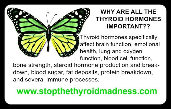 You need all those thyroid hormones for so many important reasons! http://www.stopthethyroidmadness.com