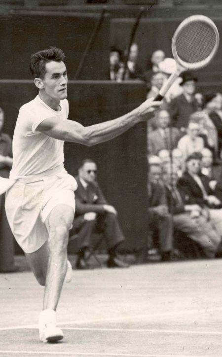 Bob Falkenburg, Wimbledon, July 2, 1948