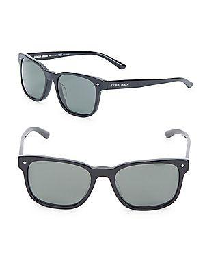 Giorgio Armani 56MM Solid Wayfarer Sunglasses - Black - Size No Size