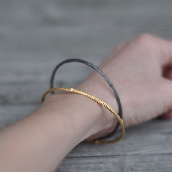 new items in my shop: twig bangles