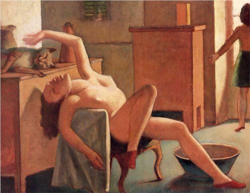 Balthus Desnudo con gato