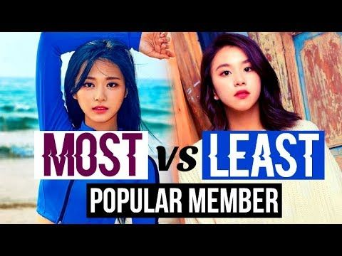 Most Vs Least Popular Member In Kpop Groups Bts Exo Blackpink Got7 Nct Twice And More Youtube Bts Vs Exo Kpop Groups Nct