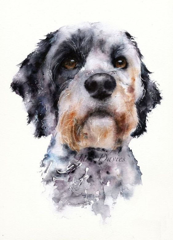Portrait Painting Dog Dogpainting Inspiration Watercolor