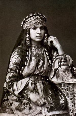 "[Cool duds] Armenian girl from Shamakhi in traditional Armenian dress. Photo source dates it ""pre-1917."""
