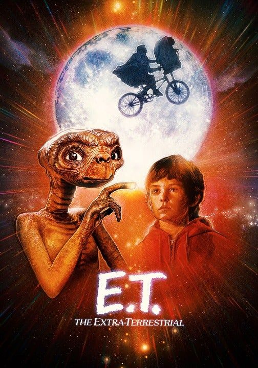 E T Extra Terrestrial 35mm Trailer Mercari Et Movie Poster Movie Poster Art Movie Art