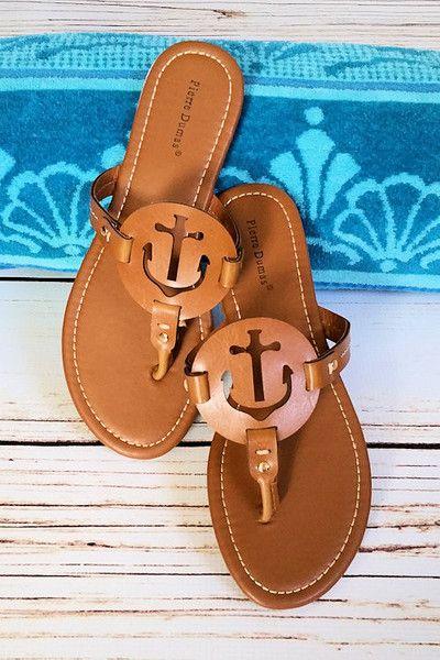 spring sandal, summer sandal, thong sandal, anchor sandal by Jane Divine Boutique www.janedivine.com
