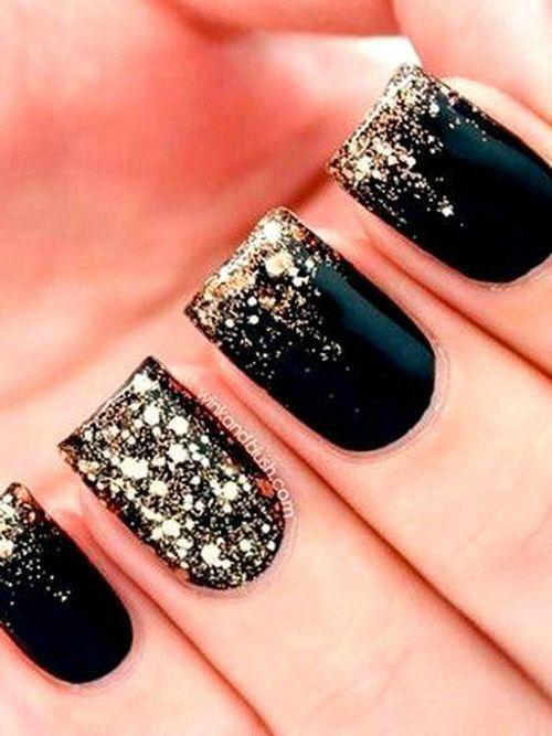 2014 black nail designs: