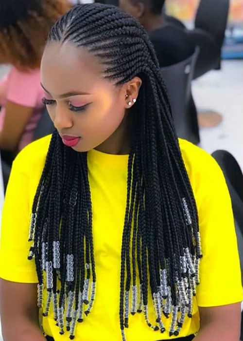 Sophisticated Cornrows Braided Hairstyles 2020 For Afro Girls To Reach Perfecti In 2020 Weave Hairstyles Braided African Hair Braiding Styles African Braids Hairstyles
