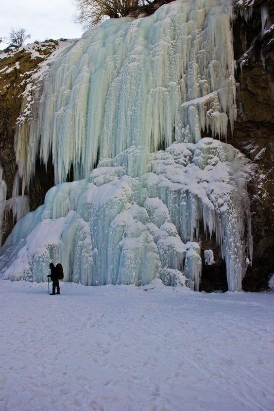 Frozen Waterfall by Leena Bansal on 500px