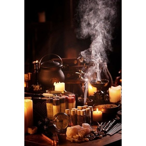 Craft of the Witch ❤ liked on Polyvore featuring home, home decor, holiday decorations, backgrounds et witchcraft