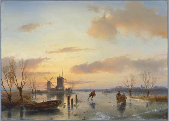1. Andreas Schelfhout (1787 - 1870), Winterlandschap, 1846, collectie Teylers Museum Aangekocht in 1864