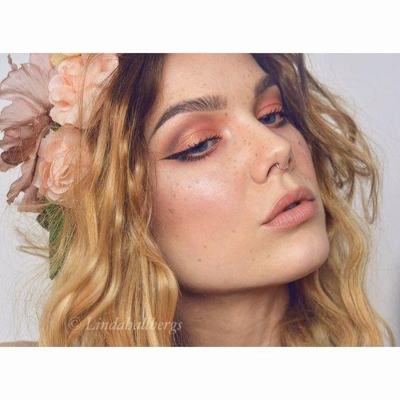#fotd #freckles #lindahallberg #makeup