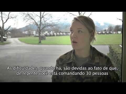 Uma mulher comandante de pelotão