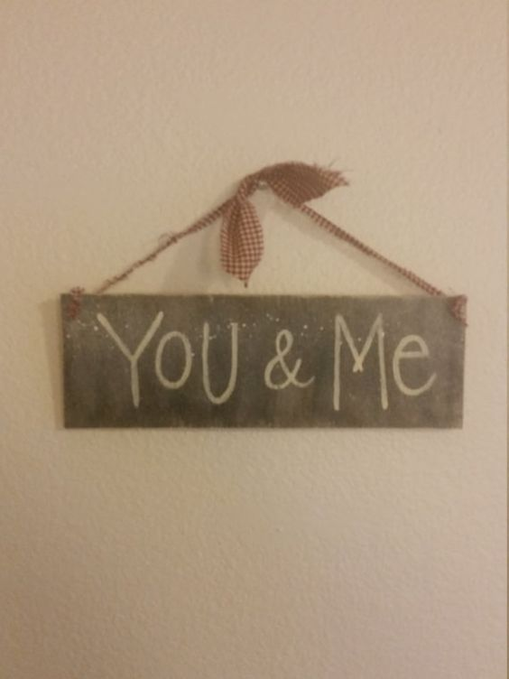 Valentine's Day You & Me Rustic Wood Sign Wall Decor by BabyRaggz